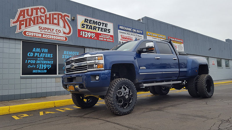 Lifted Blue Truck